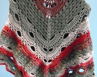 Triangle shawl: virus meets granny stitch