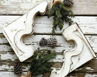 Corbels(2), SHILOH, Wood, Rustic, Architectural Salvage, Bookends, Shabby Chic, Antique Inspired, Shelf Brackets, Farmhouse, Christmas gift