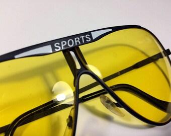 Vintage Aviator SPORTS Sunglasses – Uber 80's Style