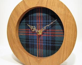 Large Round Tartan Clock