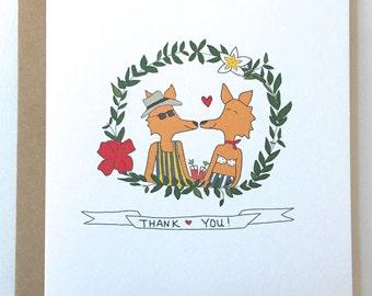 Foxy Thank You Card