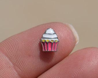 1 Memory Locket Cupcake Charm FL214