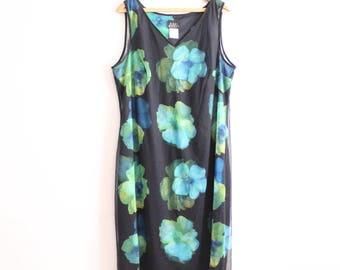 Mesh Flower 90s Maxi Dress