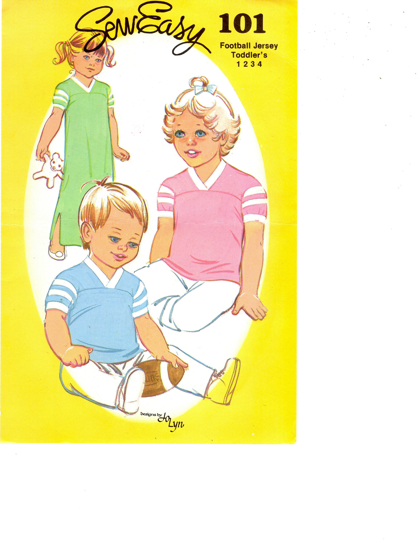 Nähen Sie einfach Muster 101 Kind Fußball Jersey T-Shirt