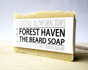 Beard Bar, Beard Soap, Forest Haven, Beard Wash, Kaolin Beard Soap, Beard Soap Bar, Beard Shampoo, Beard Conditioner, Soap for Him