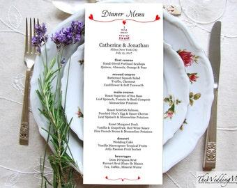 Editable Wedding Menu Template Dinner Menu Rustic Wedding Menu Kraft Menu Instant Download Editable Menu Template Printable Card PDF CAKE01