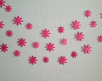 Pink Daisy Garland/Banner, Bridal Shower Garland, Birthday Garland, Wedding Garland, Spring Garland, Oopsy Daisy Garland, Daisy Garland