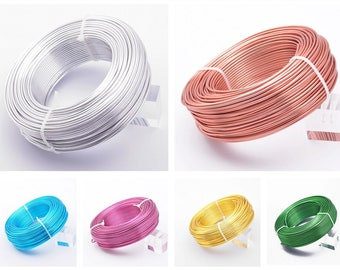 Wholesale Large Roll Various Colors Aluminum Craft Wire 18/15/12/10/9 Gauge 1.0/1.5/2.0/2.5/3.0mm Jewelry Craft Cord Wire---SKU-LX001-LX005