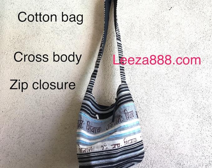 Cotton crossbody bag