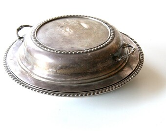 tarnished silver serving dishes set of 3 pieces