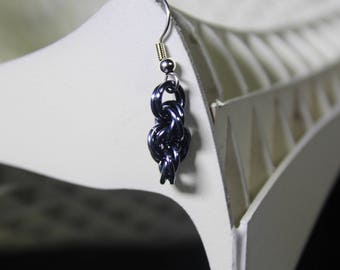 tower chainmaille earring
