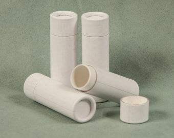 15 White Paper Lip Balm Tubes - Eco Friendly & Sustainable - .3 oz