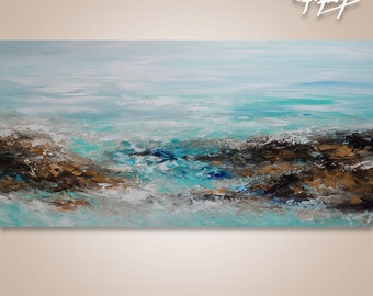 Palette Knife Painting Abstract Acrylic On Canvas Wall Art Ocean Painting On Canvas Abstract Painting Knife Abstract Art Contemporary Art