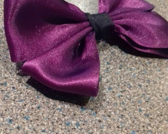 Big dark purple hair bow