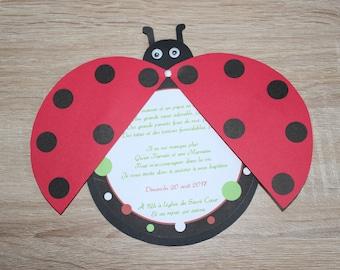 Personalized Ladybug invitation