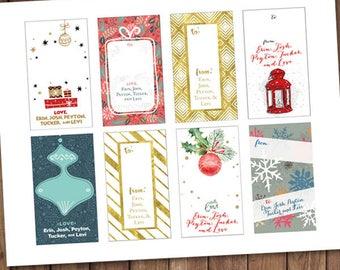 Customized Gift Tags Printable Package { Christmas Season }