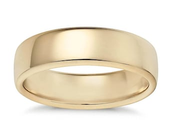 4.2mm 14K Yellow Gold Comfort Fit Wedding Band Ring
