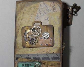 Steampunk Mini File Folder Junk Journal
