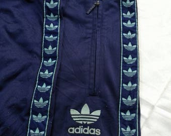 Sale!! Vintage Adidas Full Stripe Track Pant Sport Pant Size Large