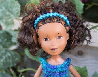 Iris from Grapevine Girls  ( Bratz  makeunder repaint change ooak art dolls with handmade knit doll clothes) Hug a doll, Hug a tree!