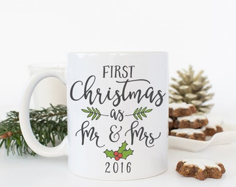 Our First Christmas as Mr and Mrs Gift, Our First Christmas as Mr and Mrs, Our First Christmas Mug, Newlywed Christmas Gift, Coffee Mug