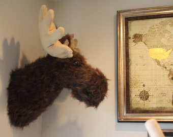 Large Moose Head - Faux Moose Taxidermy - Moose Decoration Wall Hangings - Faux Animal Heads by JoJo's Bootique