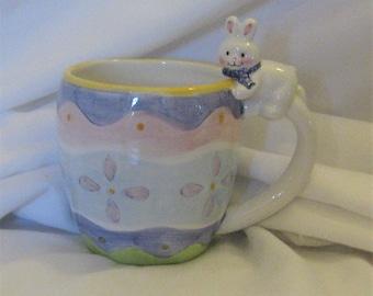 Hallmark Egg with Bunny Easter Mug Ceramic 7 oz.