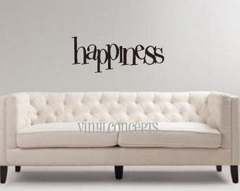 Happiness - Vinyl Wall Art