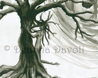 Tree Sprite Fantasy Art 11x14 Print