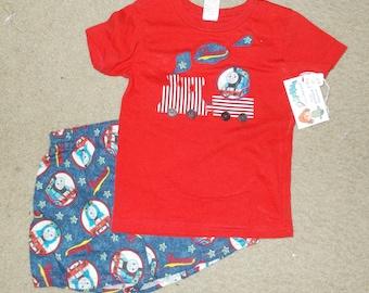 2 pc 100% cotton 2T Toddler loungewear,  jammies, pajama set, toddler pajama set, sleepwear, activewear, playwear, lounge shorts and t shirt