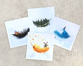 Feather Collection (4 prints)