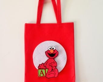 10 Pcs Elmo Party Bag Treat Bags Goodie Bags Sesame Street Candy Bags Elmo Party