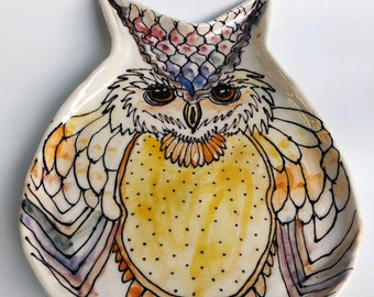 Hand Made Owl Plate