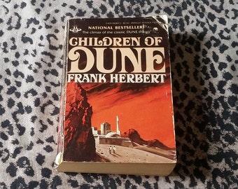 Children of Dune by Frank Herbert [Paperback Book] Vintage Science Fiction Book Vintage Sci Fi Novel Paperback Book Fiction Books Vintage