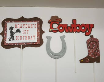 Western Centerpieces Toppers set of 4 .