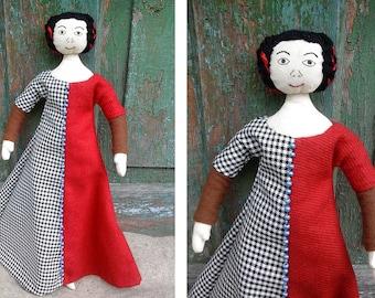 Medieval Doll 14th century England/Historical handmade doll