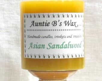 Asian Sandalwood - Paraffin Pillar Candle