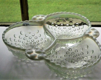 HOBNAIL SERVING DISH From the 50'S? Shipped by Priority Mail with tracking for security