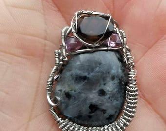 Larvikite pendant