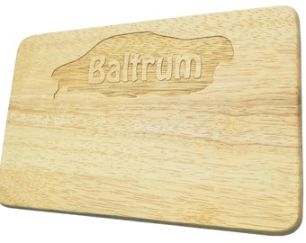 Breakfast board Baltrum engraved North Sea Island Wood-breakfast boards-engraving