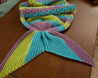 Hand crocheted Mermaid tail