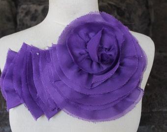 Nice ruffled  applique yoke   purple   color 1 pieces listing