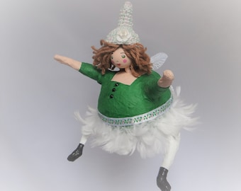 angel paper map doll collection big lady green