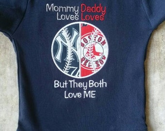 Baseball house divided baby bodysuit or shirt   you pick teams