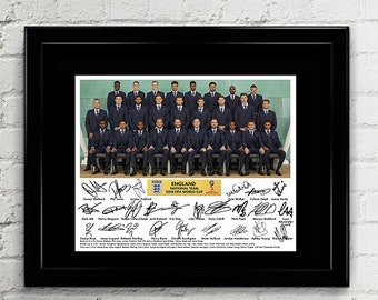 England Football 2018 Fifa World Cup Russia National Team Squad - RPT Signed Autograph Soccer - The Three Lions, Harry Kane, Alli, Sterling