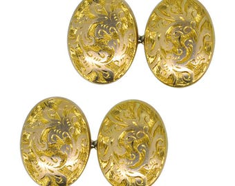 Antique Gold Cuff Links