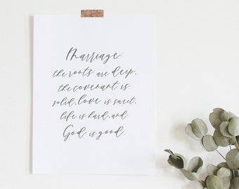 John Piper Quote - Marriage Print - Love Quote - Anniversary Gift - Typography Print - Minimal Print - Gifts Under 20 - Frame Not Included
