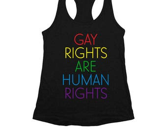 Gay Rights Are Human Rights -- Women's Racerback