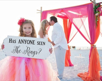 Has ANYONE seen the Rings? **Reusable STENCIL** 7 Sizes - Create Wedding Signs Yourself!