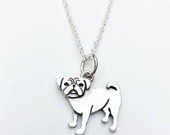 Pug Charm Necklace